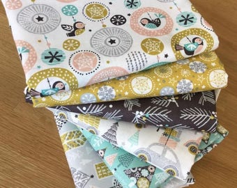 MERRY & BRIGHT Fat Quarter fabric bundle A Christmas Festive
