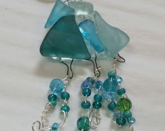 Necklace ornament pendant sea glass