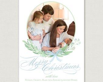 Simple and Elegant Wreath Christmas Card