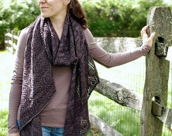 PRE-ORDER: Understoried Scarf or Wrap Kit - Includes hand dyed yarn and pattern