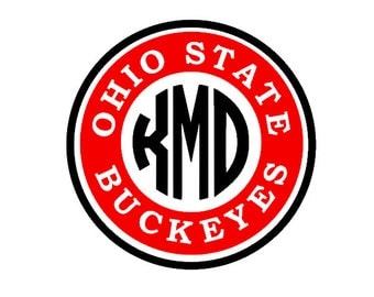 Ohio State Buckeyes Monogram Decal for Yeti, Phone, Laptop, Tumblers, Cars, Rain Boots, Flask - Personalized Gift