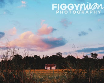 Abandoned House, Country Landscape, Rural Photography, Texas Fields, 8x10 Photography Print