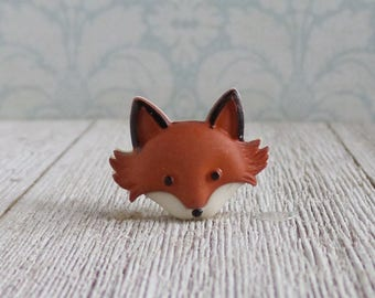Fox - Forest Animal - Red Fox - Sly - Intelligent - Lapel Pin
