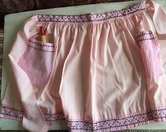 Vintage Pink Half Apron