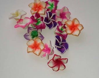 X 7 flower mix color 20mm beads