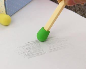 X 1 Eraser match green kawaii
