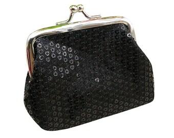 X 1 holder wallet black sequin