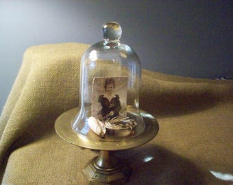 Brass Candle Holder and Cloche