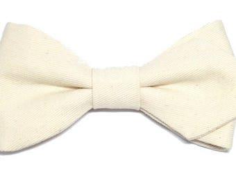 White bowtie with sharp edges
