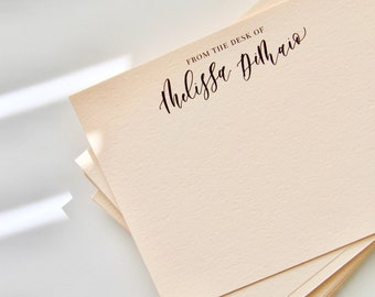 Custom Stationery Cards | Note Cards | Custom Calligraphy | From the Desk of | Bridesmaid Gift | Wedding Stationery | Thank You Cards