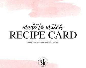 Made to Match Recipe Card