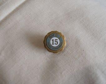 Vintage B of RT Brotherhood of Railroad Trainmen 15 Year Award Enamel Lapel Pin