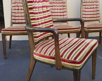 Montiverde Young Dining Chairs 1960s - 8 Original Upholstery MONTIVERDE YOUNG Dining Chairs Mid Century Modern Hollywood Regency Vintage USA