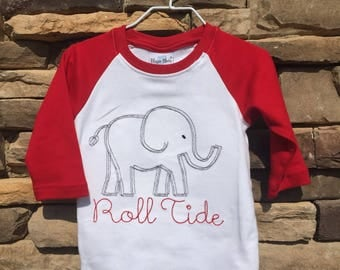 Elephant Roll Tide Raglan