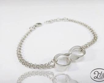 Infinity bracelet women silver  925 ON ORDER