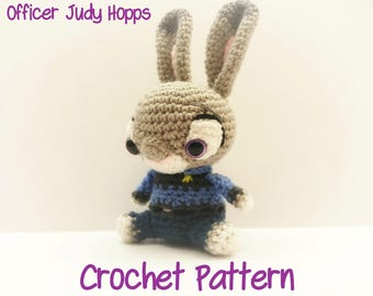 Crochet Judy Hopps Pattern From Disney/Pixar's Zootopia CROCHET PATTERN ONLY