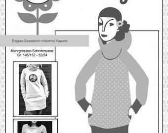 """Summer Sale Jolijou pattern raglan sweater """"Kanga"""""""