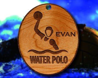 Wooden Water Polo Christmas Ornament