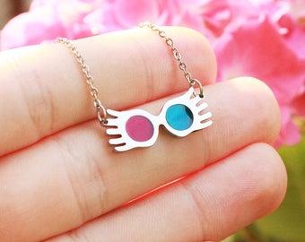Luna Lovegood Sunglasses Necklace, Wizard Necklace, Radish Earrings, The Quibbler, Spectrespecs, Geekery, Geek Jewelry