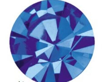 sapphire flatback crystals/rhinestones - one gross