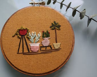 House Plant Embroidery