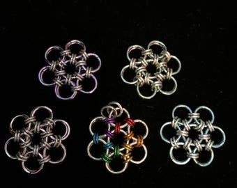 Chainmaille Flower of Life Necklace