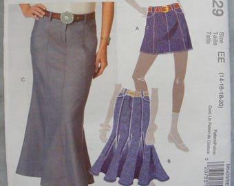 Mini / Full / Godet Skirt Uncut McCall's Sewing Pattern 5429 Size 14 16 18 20