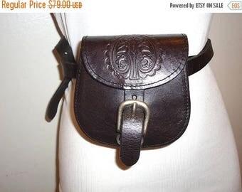 50% OFF Really Nice Vintage Dk. Brown Leather Belt Bag