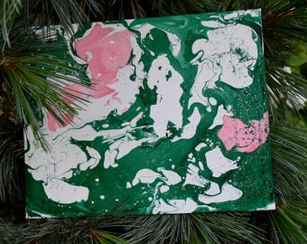 Forest Relief. Another Marble Painting.