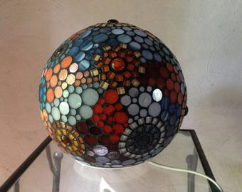 To order. Put stained glass mosaic ball lamp.