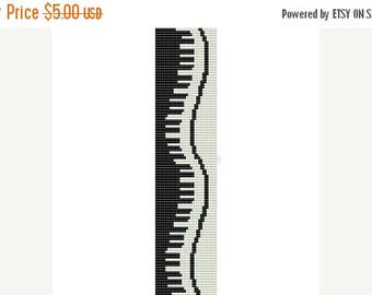 SALE HALF PRICE off Instant Download Beading Pattern Peyote Stitch Bracelet Wavy Piano Seed Bead Cuff