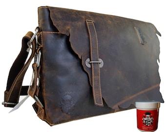 Shoulder bag SUREHAND of brown Western leather