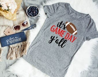 It's game day y'all, Ladies football shirt, SEC tee, UGA game day shirt, Bama Girltee, It's football y'all, Jesus and football tee, Gameday