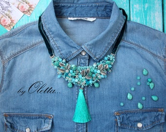 "necklace ""Mint meadow"""
