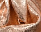 "14K Rose Gold Metallic ""Vegas"" Leather Cow Hide 4"" x 6"" Pre-Cut 2-3 ounces grainy TA-28892 (Sec. 8,Shelf 6,D,Box 1)"