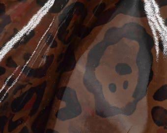 """Fashion Rosie Watercolor Jaguar Leather Cow Hide 4"""" x 6"""" Pre-cut 2 1/2-3 ounces DE-62897 (Sec. 3,Shelf 5,C,Box 3)"""