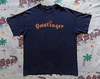 Vintage 90's Goldfinger T shirt, size Large punk rock ska