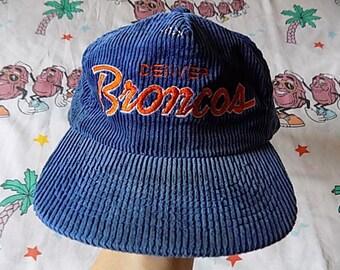 Vintage 90's Denver Broncos Sports Specialties Zip Back Hat, Adult Size The Cord NFL