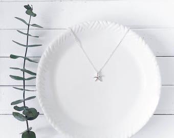 Tiny Starfish Silver Necklace