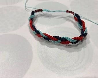macrame platted bracelet