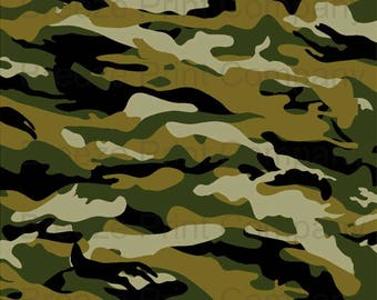 Camouflage craft  vinyl sheet - HTV or Adhesive Vinyl -  green brown black camo army pattern  HTV90
