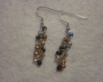 Multi Brown Dangle Earrings