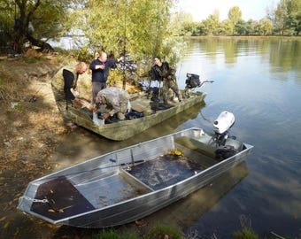 Build your own 12' X 4'  Simple Aluminum Boat (DIY Plans) Fun to build! Save Money!