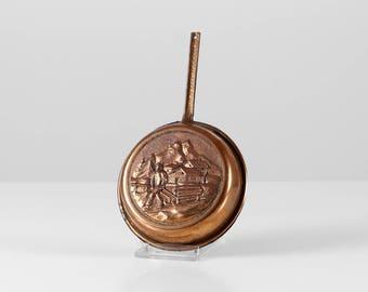 Vintage copper pan, copper wall hanging, harvest theme, copper kitchen deco