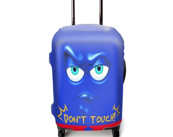 Luckiplus Cartoon Luggage Cover Spandex Suitcase Cover Fits 18-32 Inch Luggage