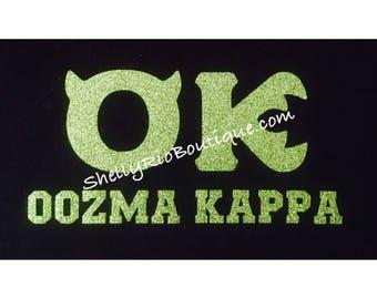 Oozma Kappa Iron On, Monsters University Iron On, Custom Iron On