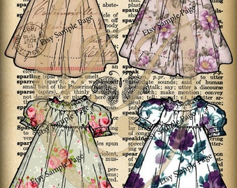Pretty Dresses Journal Cards