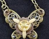 Steampunk Inspired Butterfly Necklace