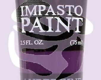 Prima Finnabair Art Alchemy IMPASTO Paint Heavy Body Acrylic Paint 2.5 oz AUBERGINE PURPLE #964597