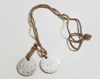 World War I Dog Tag Set Vintage Military Collectible